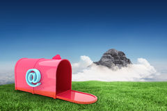 Composite image of red email post box Royalty Free Stock Photos