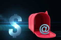 Composite image of red email post box Stock Photos