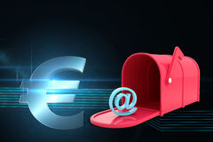Composite image of red email post box Stock Images