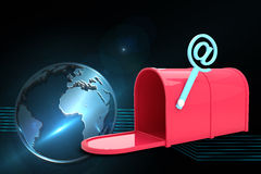 Composite image of red email post box Stock Photo