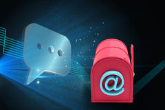 Composite image of red email post box Royalty Free Stock Photography