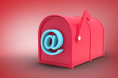 Composite image of red email post box Stock Photography