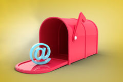 Composite image of red email post box Royalty Free Stock Photo
