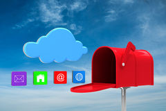 Composite image of red email postbox Stock Images