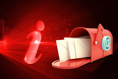 Composite image of red email postbox Stock Image