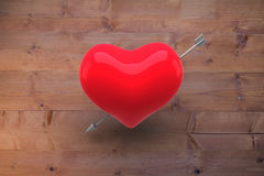 Composite image of red heart Royalty Free Stock Image