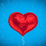 Composite image of red heart balloon Stock Images