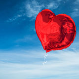 Composite image of red heart balloon Royalty Free Stock Image