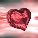 Composite image of red heart balloon Royalty Free Stock Photography