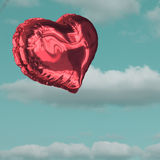 Composite image of red heart balloon Royalty Free Stock Images