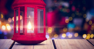 Composite image of red lantern on white background Royalty Free Stock Images