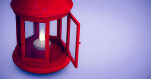 Composite image of red lantern on white background Stock Photos