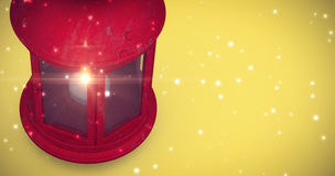 Composite image of red lantern on white background Stock Photography