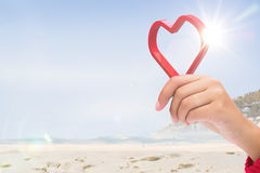 Composite image of red love heart Stock Image