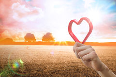 Composite image of red love heart Royalty Free Stock Photography