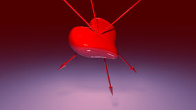 Composite image of red love heart and arrows Royalty Free Stock Photos
