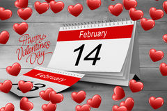 Composite image of red love hearts Royalty Free Stock Photo