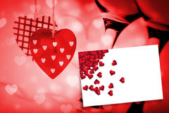 Composite image of red love hearts Royalty Free Stock Photos