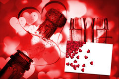 Composite image of red love hearts Stock Images