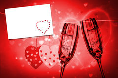 Composite image of red love hearts Royalty Free Stock Image