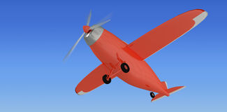 Composite image of red plane 3d Royalty Free Stock Photo