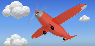 Composite image of red plane 3d Stock Photography
