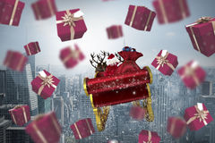 Composite image of red presents Royalty Free Stock Photography