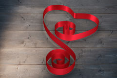 Composite image of red ribbon heart Royalty Free Stock Image