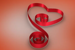 Composite image of red ribbon heart Stock Image