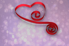Composite image of red ribbon heart Stock Images