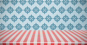 Composite image of red and white tablecloth Royalty Free Stock Photo