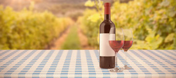 Composite image of red wine Royalty Free Stock Images