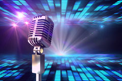 Composite image of retro chrome microphone Stock Images