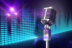 Composite image of retro chrome microphone Stock Image