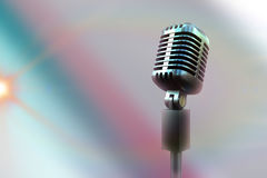 Composite image of retro microphone Stock Images