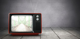 Composite image of retro tv Royalty Free Stock Image
