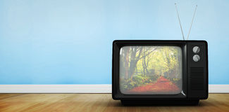 Composite image of retro tv Royalty Free Stock Photo