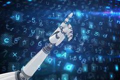 Composite image of robotic hand pointing Royalty Free Stock Images