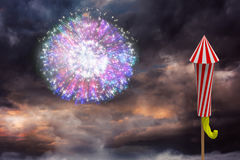 Composite image of rocket for firework Stock Image