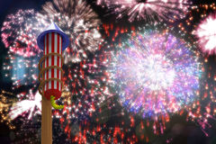 Composite image of rocket for fireworks Royalty Free Stock Photo