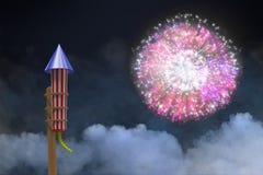 Composite image of rocket for fireworks Stock Images