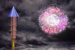 Composite image of rocket for fireworks Stock Photo