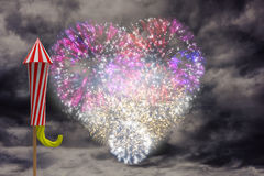 Composite image of rocket for fireworks Stock Photography