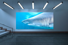 Composite image of room with display Royalty Free Stock Photo