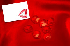 A Composite image of rubies Stock Photography