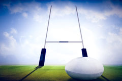 Composite image of rugby ball Royalty Free Stock Image