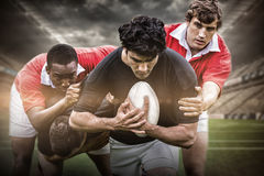 Composite image of rugby stadium stock photography