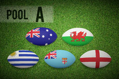 Composite image of rugby world cup pool a Royalty Free Stock Photo