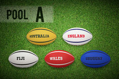 Composite image of rugby world cup pool a Stock Images