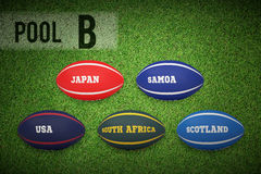 Composite image of rugby world cup pool b Stock Images